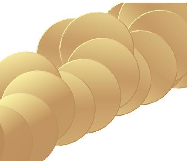 Fond abstrait premium blanc minimaliste avec des éléments géométriques en or de luxe
