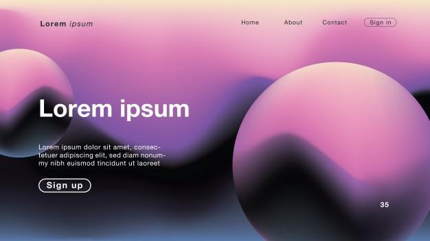Fond abstrait purple water color curve pour homepage