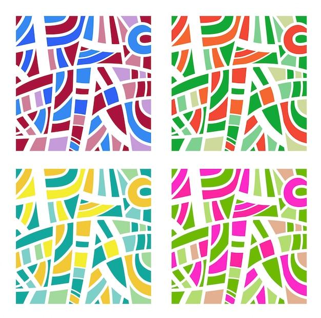 Fond abstrait en quatre couleurs