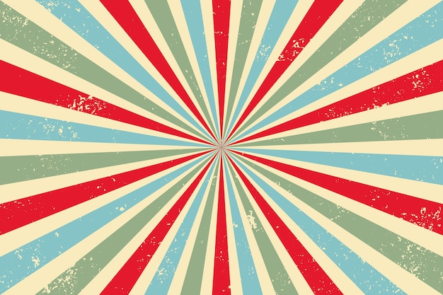 Fond abstrait rayons rétro vintage avec effet grunge