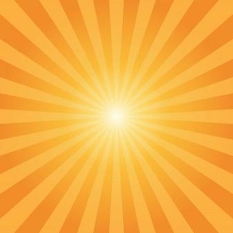Fond abstrait rayons de soleil rayons orange