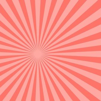 Fond abstrait de rayons de soleil rose. illustration.