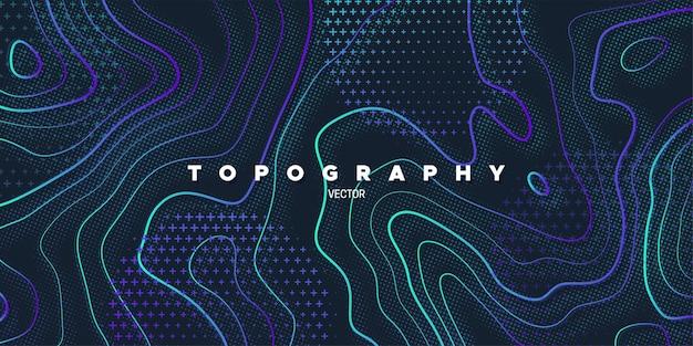 Fond abstrait relief topographie