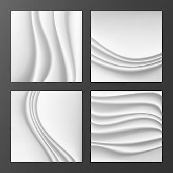 Fond abstrait en soie ondulée