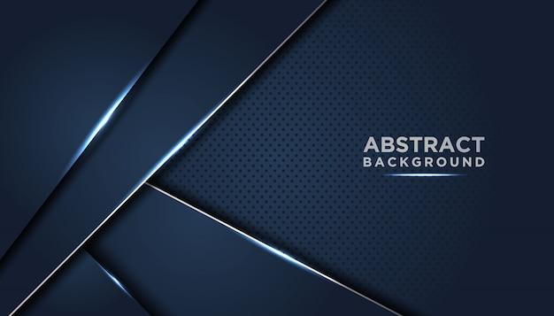 Fond abstrait sombre avec des couches de chevauchement bleu foncé