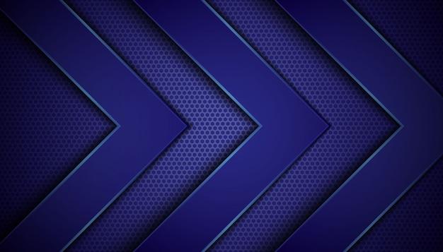 Fond abstrait sombre avec des couches de chevauchement bleues.