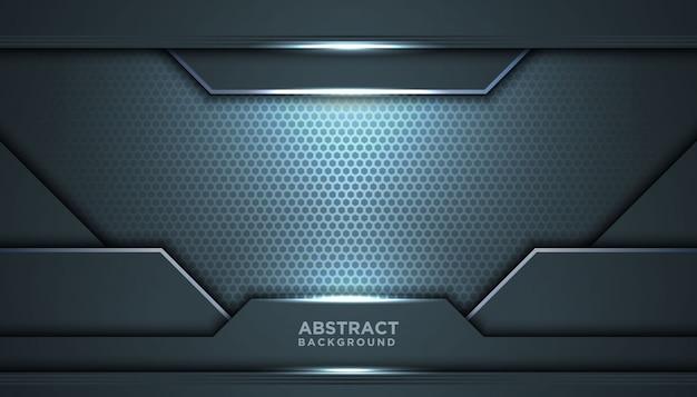 Fond abstrait sombre avec des couches de chevauchement. concept de design de luxe.