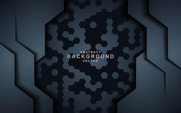 Fond abstrait sombre avec des couches de chevauchement noires