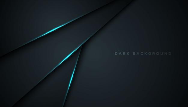 Fond abstrait sombre avec des couches de chevauchement
