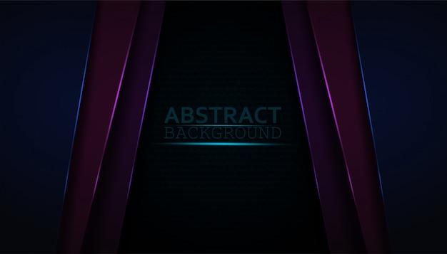 Fond abstrait sombre avec des couches de superposition colorées.