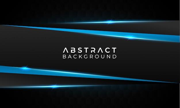 Fond abstrait sombre avec des lignes bleues