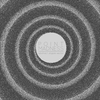 De fond abstrait spirale en pointillé.
