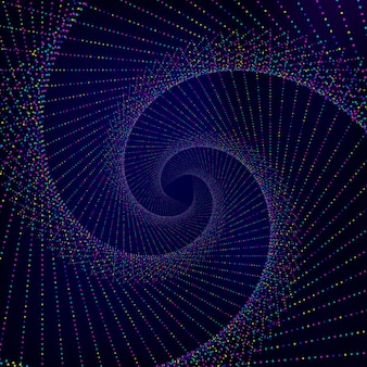Fond abstrait en spirale.