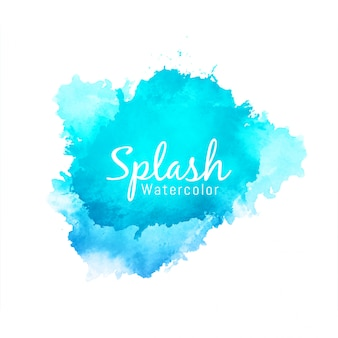 Fond abstrait splash aquarelle bleu