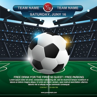 Fond abstrait sport soccer avec espace pour le texte et la conception