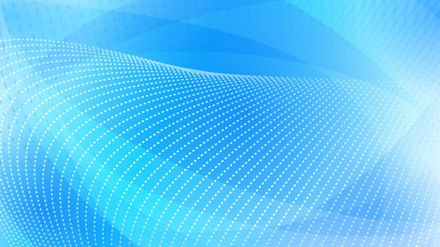 Fond abstrait des surfaces incurvées et des points de demi-teintes dans des couleurs bleu-clair