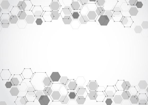 Fond abstrait tech structure moléculaire