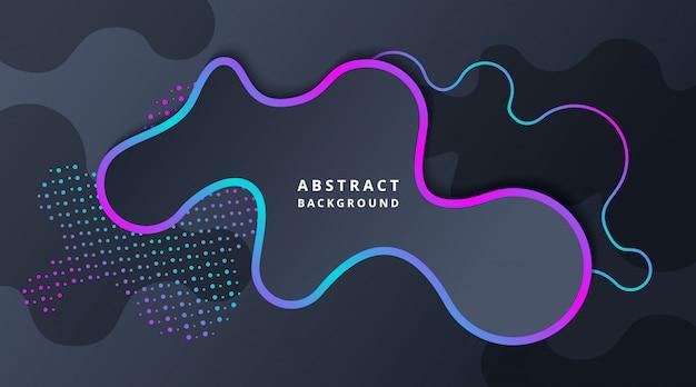 Fond abstrait technologie dark dark liquid