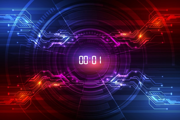 Fond abstrait technologie futuriste