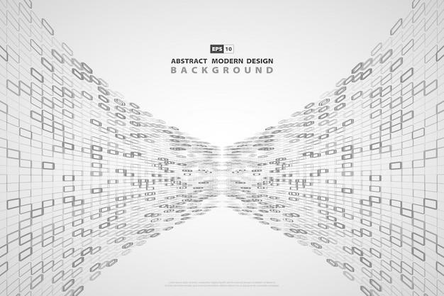 Fond abstrait technologie moderne carré gris.