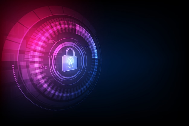 Fond abstrait technologie numérique de sécurité