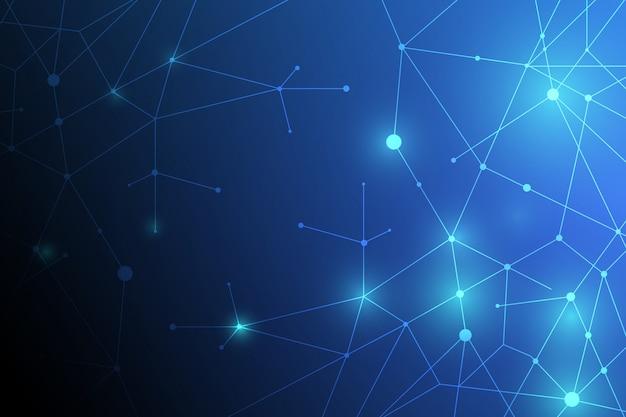 Fond abstrait technologie réseau