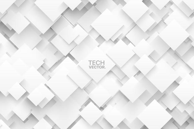 Fond abstrait technologie vecteur blanc