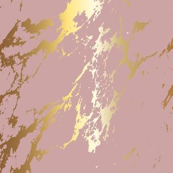 Fond abstrait avec une texture de marbre d'or rose
