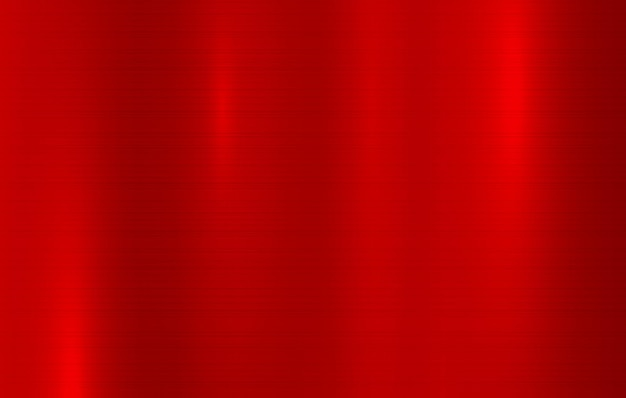 Fond abstrait de texture en métal surface métallique polie mur en acier rouge clair