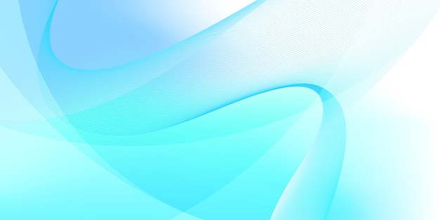 Fond abstrait vague bleu et blanc