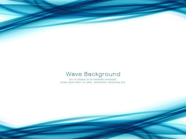 Fond abstrait vague bleue