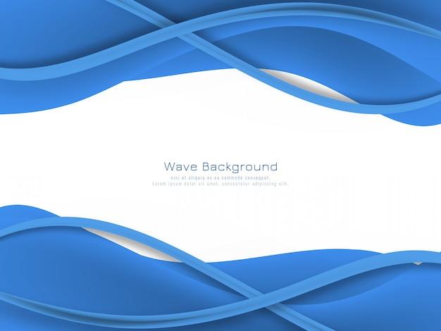 Fond abstrait vague de couleur bleue