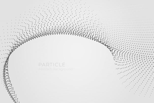 Fond abstrait vague de particules
