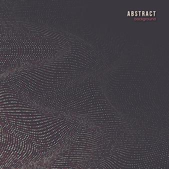 Fond abstrait vague en pointillé, effet 3d.