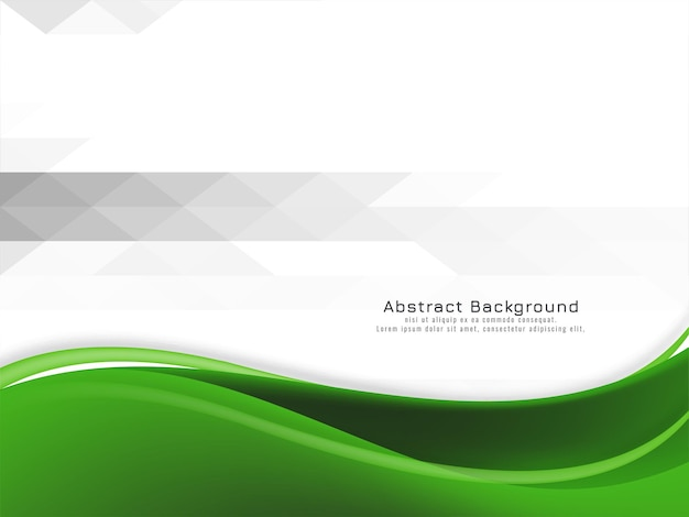 Fond abstrait vague verte