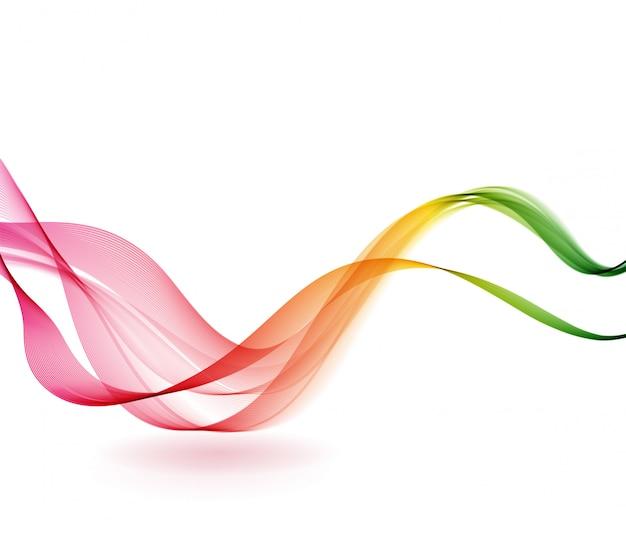 Fond abstrait vagues colorées