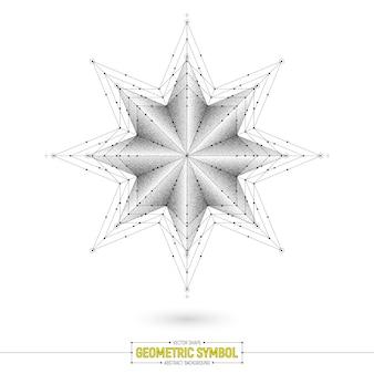 Fond abstrait vecteur étoile sacrée