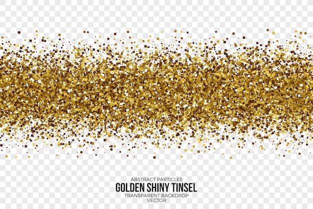 Fond abstrait vector tinsel brillant doré