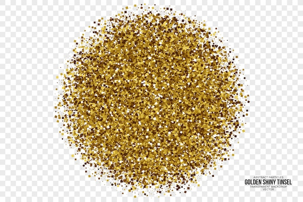 Fond abstrait vector tinsel brillant doré