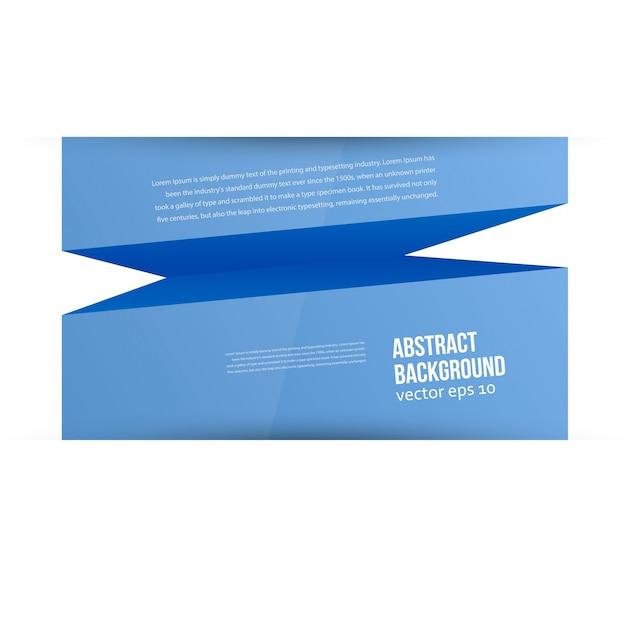 Fond abstrait vectoriel. espace bleu pour le texte