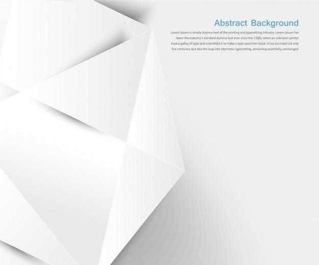 Fond abstrait vectoriel. géométrique blanche