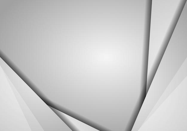 Fond abstrait vectoriel gris hexagonal avec espace de copie