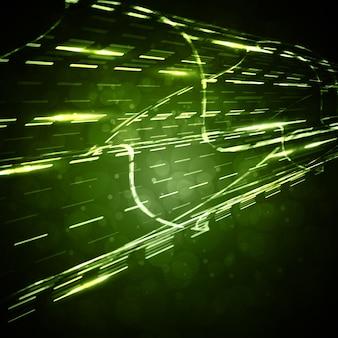 Fond abstrait vectoriel, lignes de mouvement droites, illustration futuriste