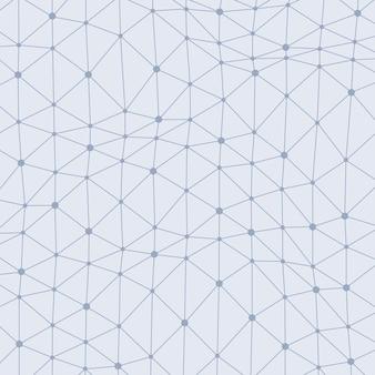 Fond abstrait vectoriel avec points connectés asymétriques