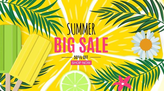 Fond abstrait de vente d'été.