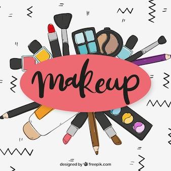 Fond d'accessoires de maquillage
