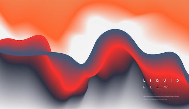 Fond acrylique ondulé coloré