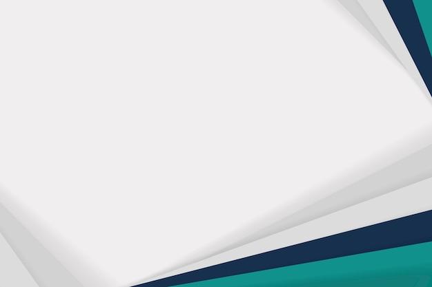 Fond d'affaires blanc simple avec bordure verte
