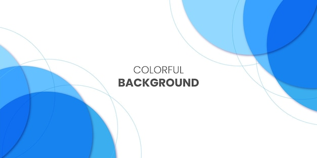 Fond d'affaires coloré avec mise en page bleue