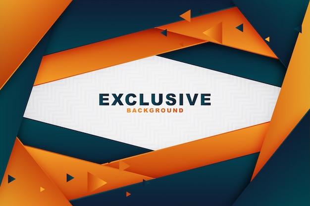 Fond d'affaires élégant géométrique bleu et orange